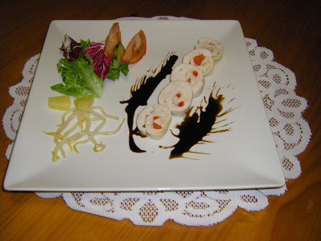 Rollitos de Pavo Rellenos en Adobo Semi-picante