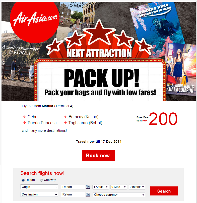AIR ASIA: Pack your bags and fly with low fares!