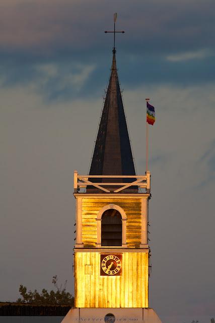 Kerktoren bij Oosterend, Texel