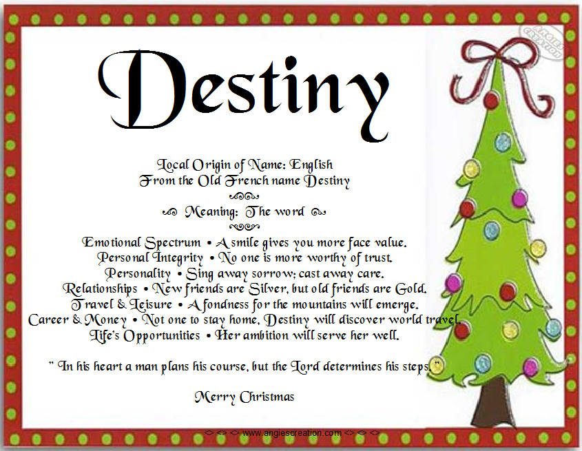 Meaning of destiny number 8