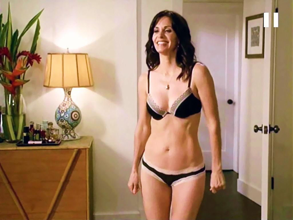 courteney cox lingerie