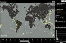 Un año de terremotos, mostrados en un mapa online interactivo
