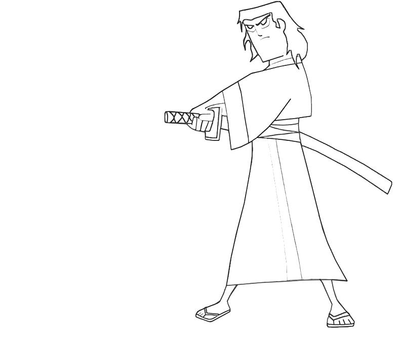 printable-samurai-jack-swordman-coloring-pages