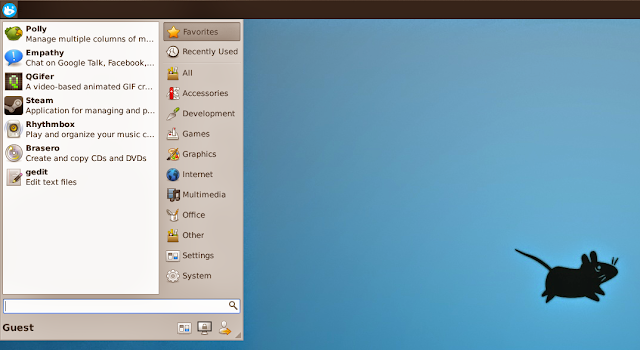Xubuntu com Whisker Menu