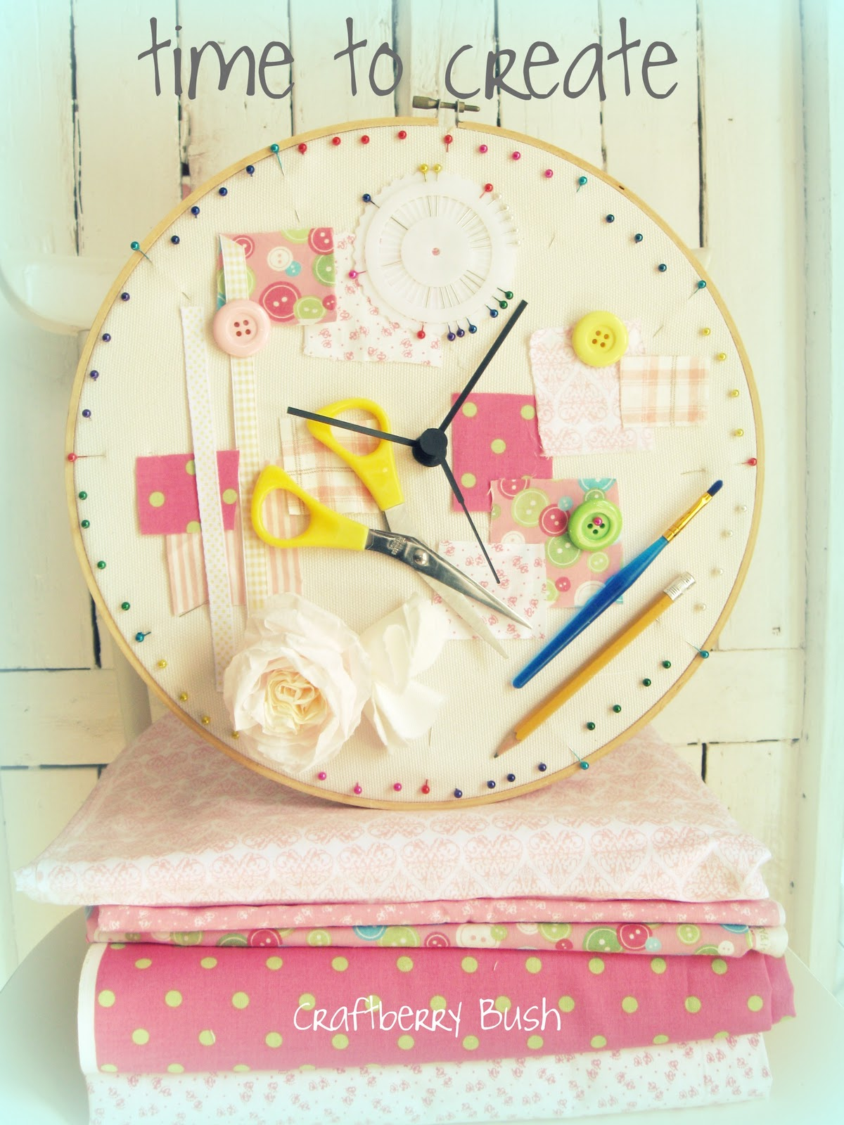 Time to create for Kids room clock