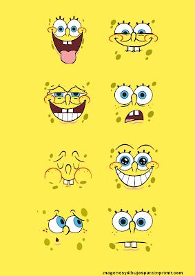 Bob esponja, alegre, asustado