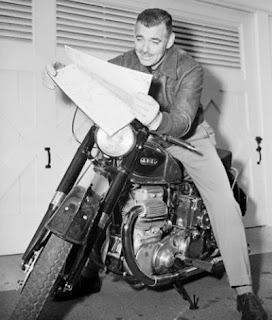 Clark Gable moto
