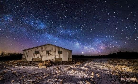 FOTO: Galaksi Bima Sakti dan Venus