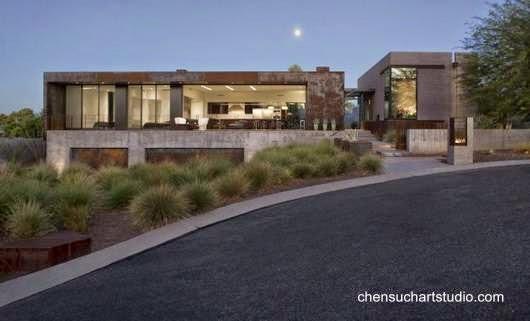 Residencia en Arizona inspirada en el Brutalismo arquitectónico