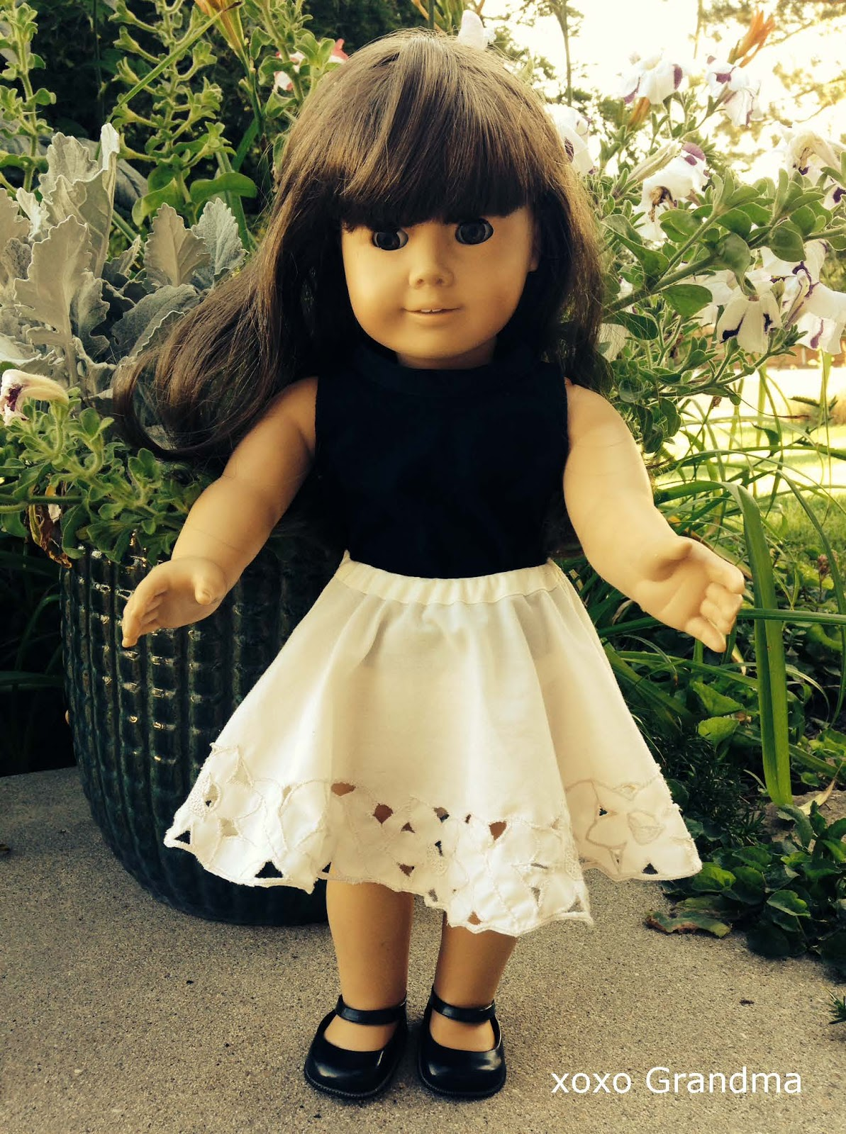 Xoxo Grandma Doll Skirt From A Lace Doily A Tutorial