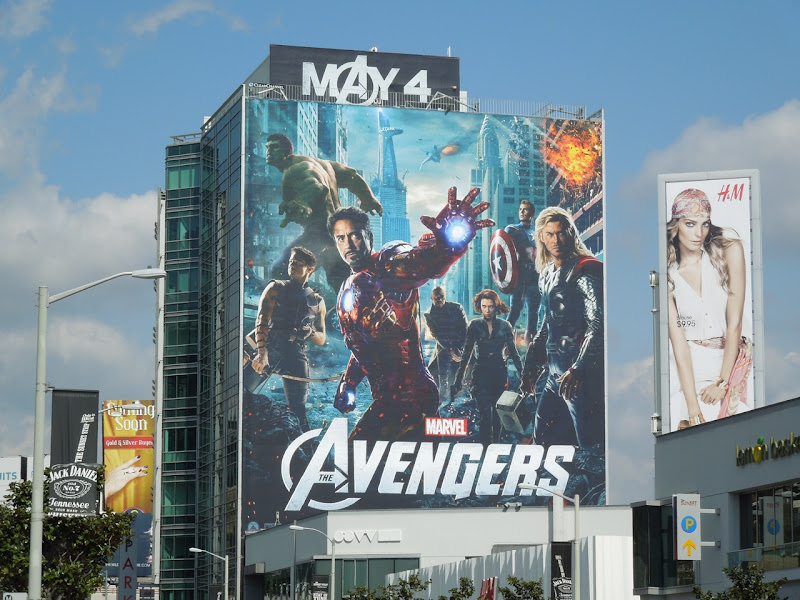Avengers movie billboard Sunset Plaza