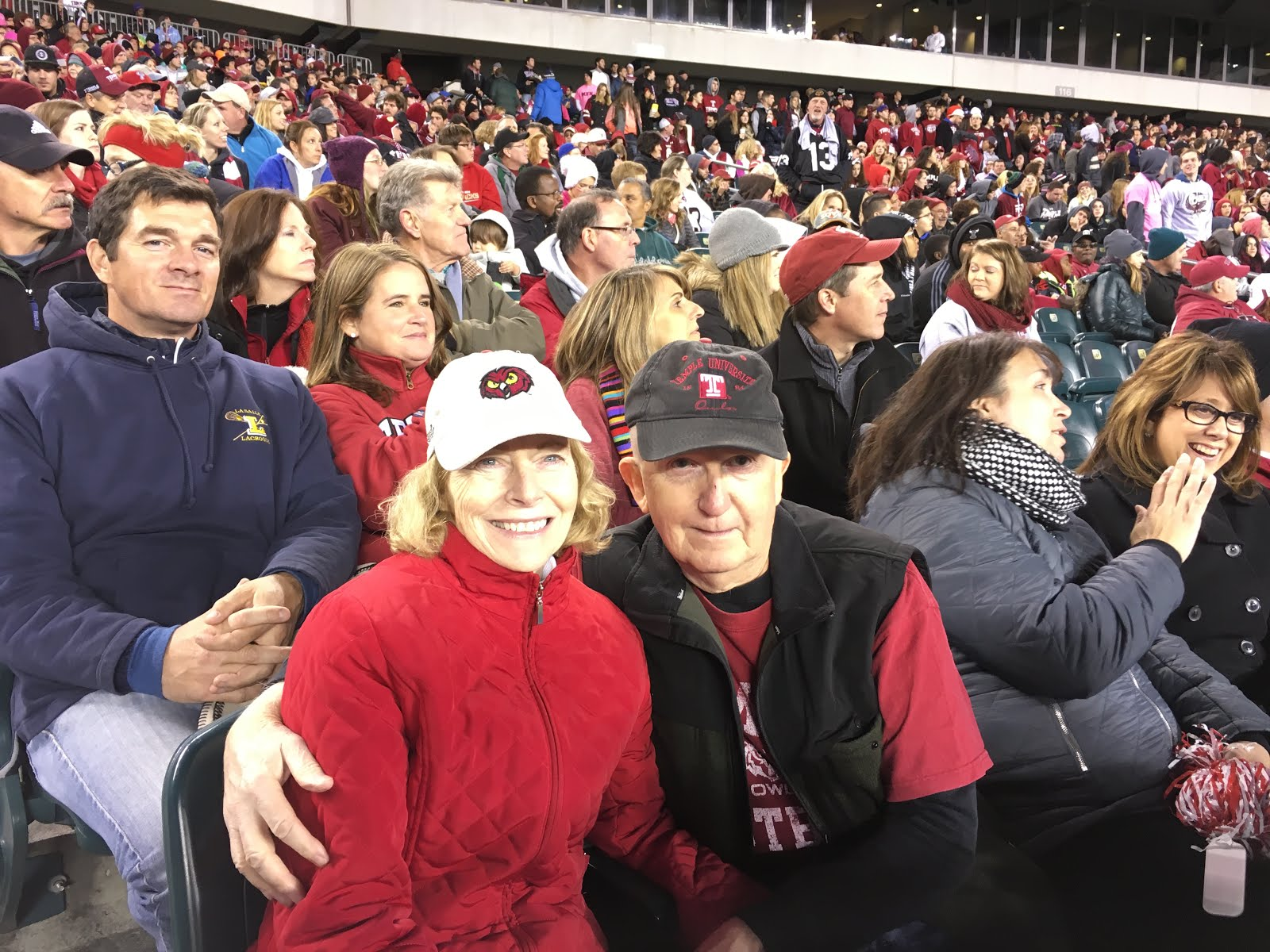Ron and Denise in their season ticket seats for Owls football.