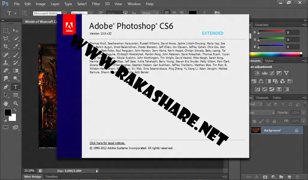 Adobe Photoshop CS6 Extended Final Full Patch + Keygen