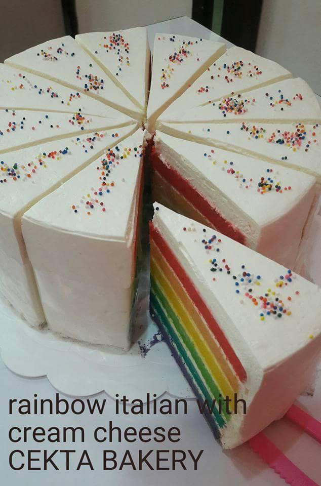 RAINBOW ITALIAN CAKE