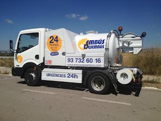 Camión cuba para desatascos en Martorell disponible 24 horas