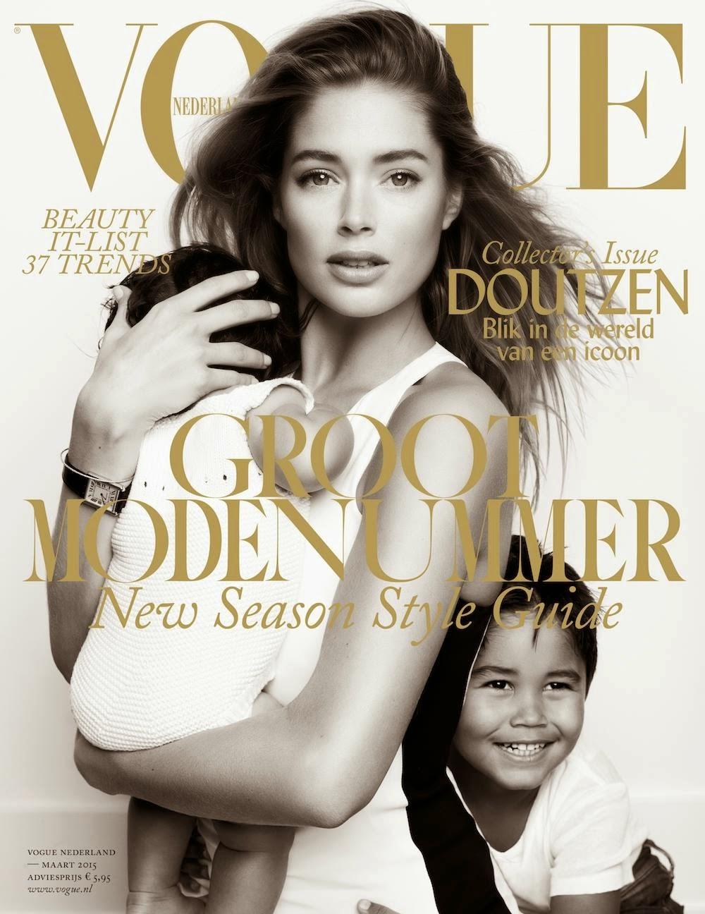 Model, Actress: Doutzen Kroes for Vogue Netherlands