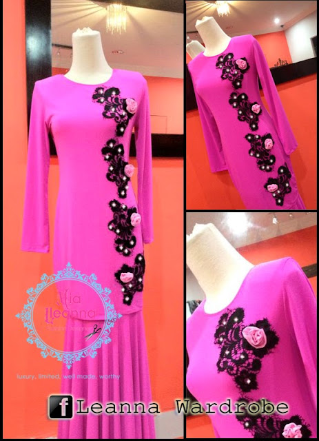 """ PRADA LACE KURUNG MODERN - Shocking Pink"""