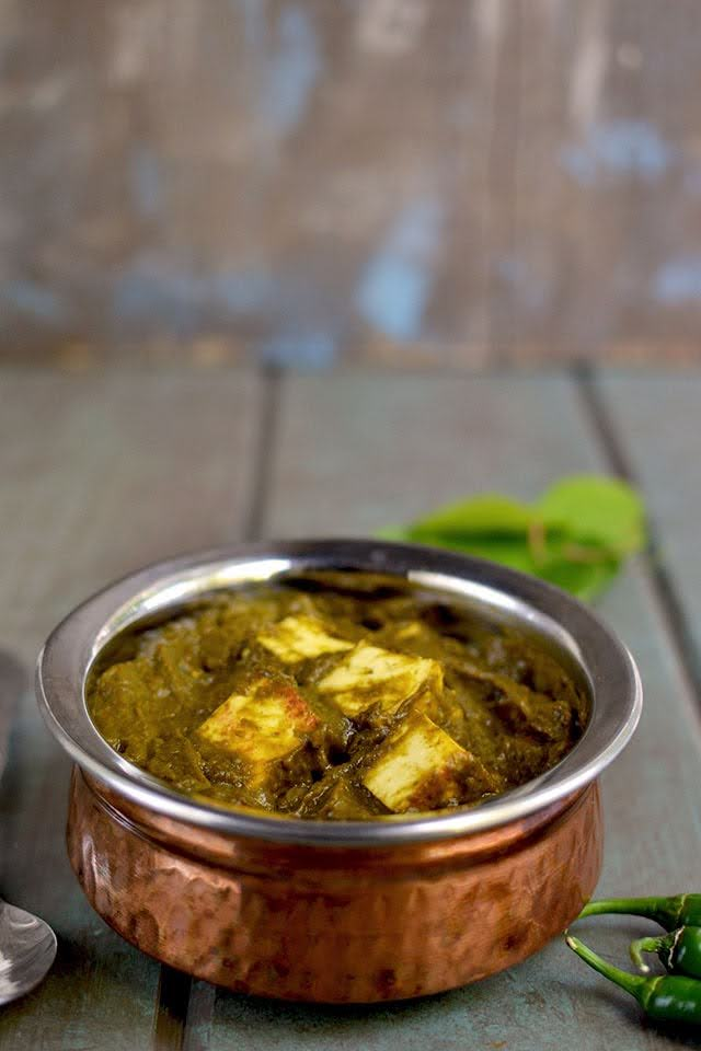 Paneer with Sorrel Spinach