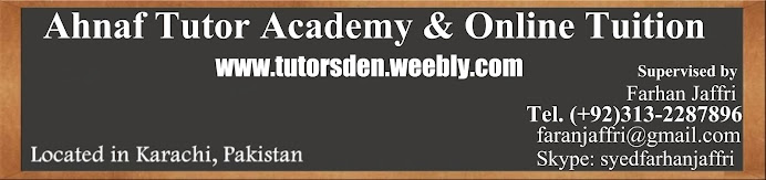 Home Tutor in Karachi and Tuition Provider - Private teacher for BBA,MBA,ACCA,O/A Level 0313-2287896