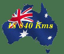 Km parcourus depuis Brisbane