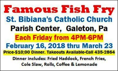 3-2 St. Bibiana's Famous Fish Fry, Galeton