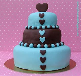 Blå tårta