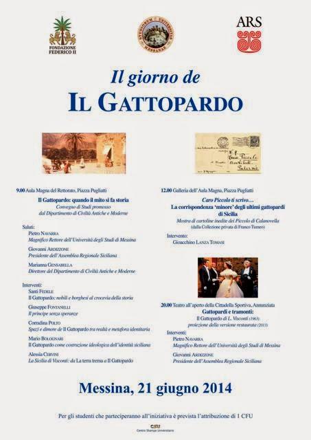 """IL GIORNO DE """"IL GATTOPARDO"""": EVENTO CULTURALE DEDICATO A TOMASI DI LAMPEDUSA"""