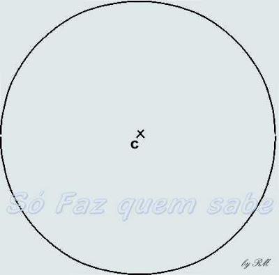 Circunferência para traçar a estrela de seis pontas