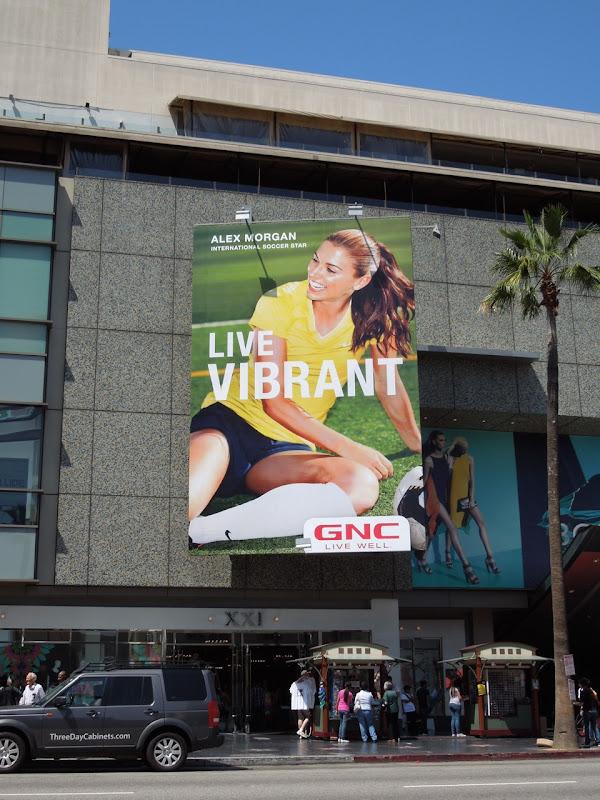 Live Vibrant GNC billboard