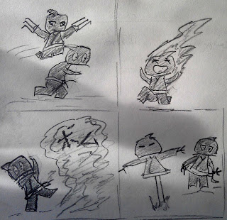 Sudden Death Ninja Fire Sketches