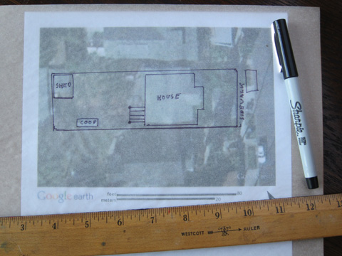How To Design a Garden Step II Using Google Earth to Draw Up a
