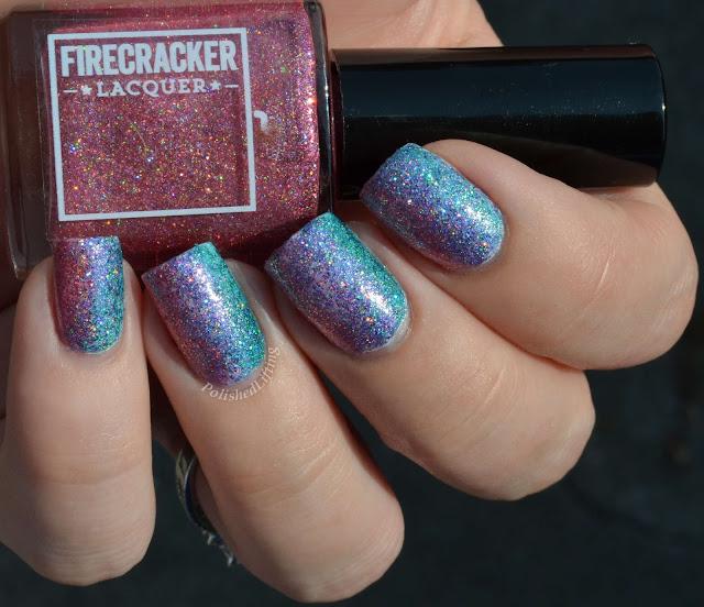 Firecracker Lacquer potassium strontium copper barium vertical gradient
