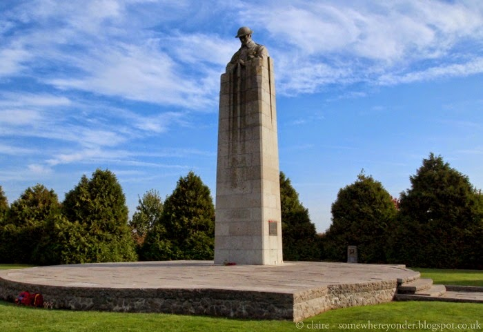 The Brooding Soldier at Vancouver Corner, Flanders Fields Belgium