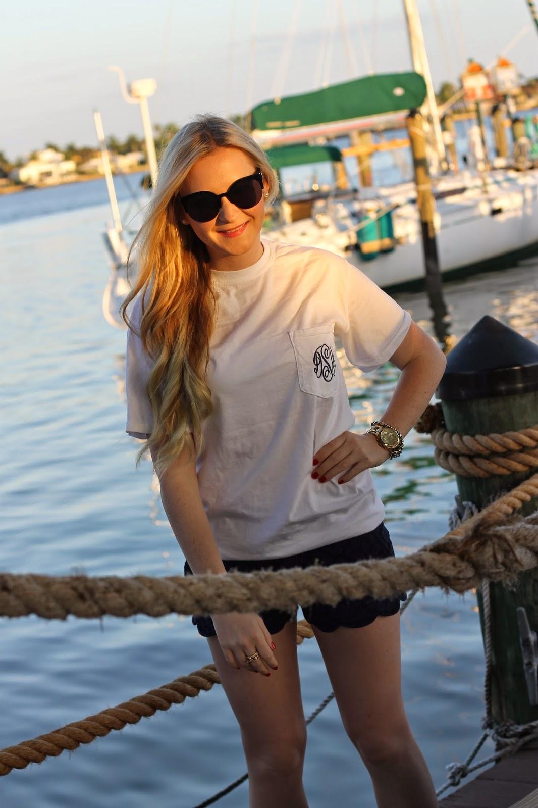 American Sailboat Pocket Shirts On The Dock Devon Alana