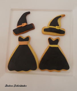 Galletas brujas halloween fondant