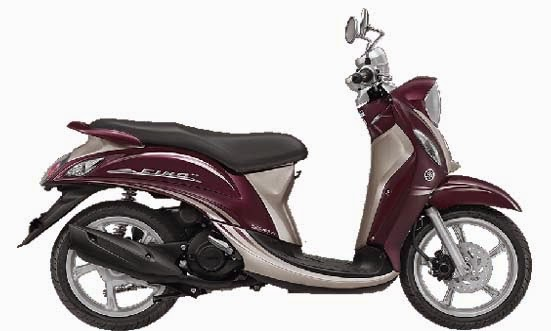 New Yamaha Mio Fino FI Red Wine
