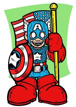 Captain America Mini por ArtisticEnigma