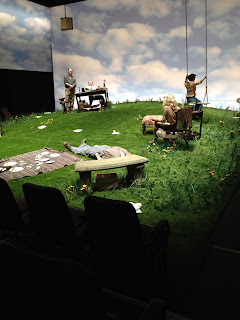 Our HT Luxury artificial grass on stage at Clwyd Theatr Cymru