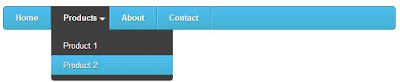 Light Blue CSS3 Drop Down Menu