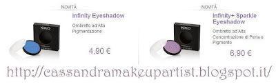 KIKO - Infinity Eyeshadow + sparkle Palette Personalizzabili - prezzi - recensione - review - clics system - price - depottare
