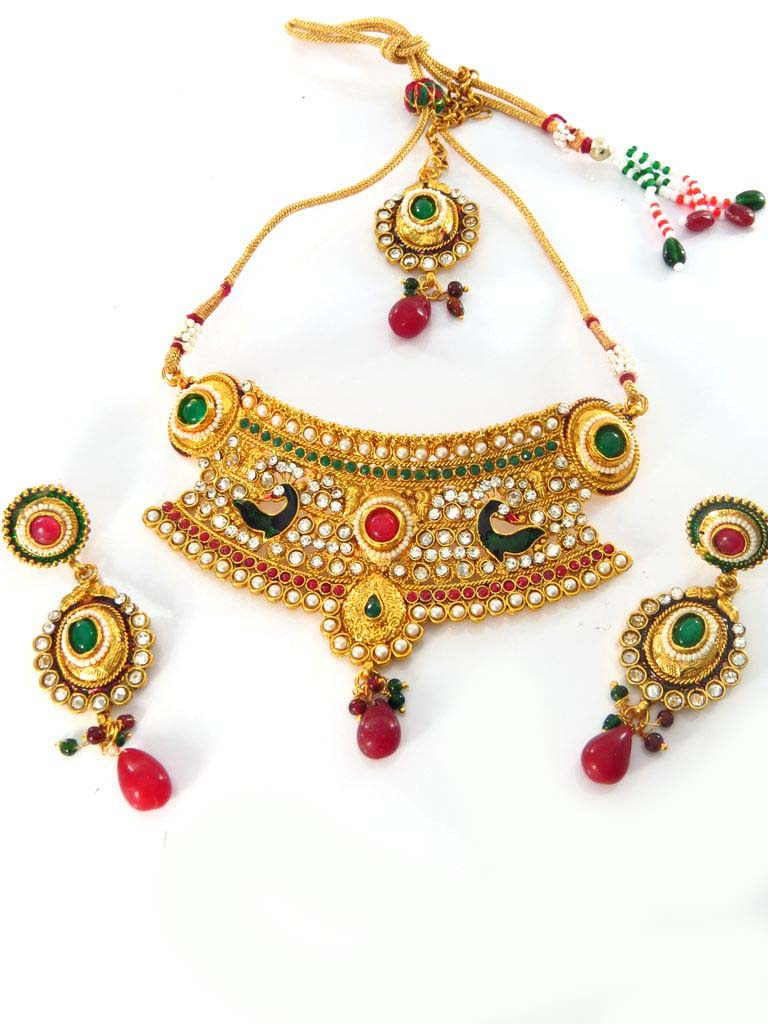 with pasa gold jewelry platted quality passa online green rs jewellery women red beads pipalpati only pin order high navratan just for in jadau jhumar