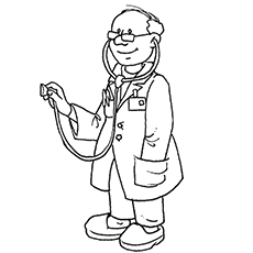 Jobs coloring kids doctors hospitals coloring pages for Stethoscope coloring page