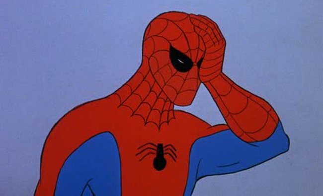 Spiderman meme face