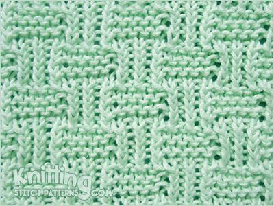 Twisted Rib and Garter Stitch | Knitting Stitch Patterns
