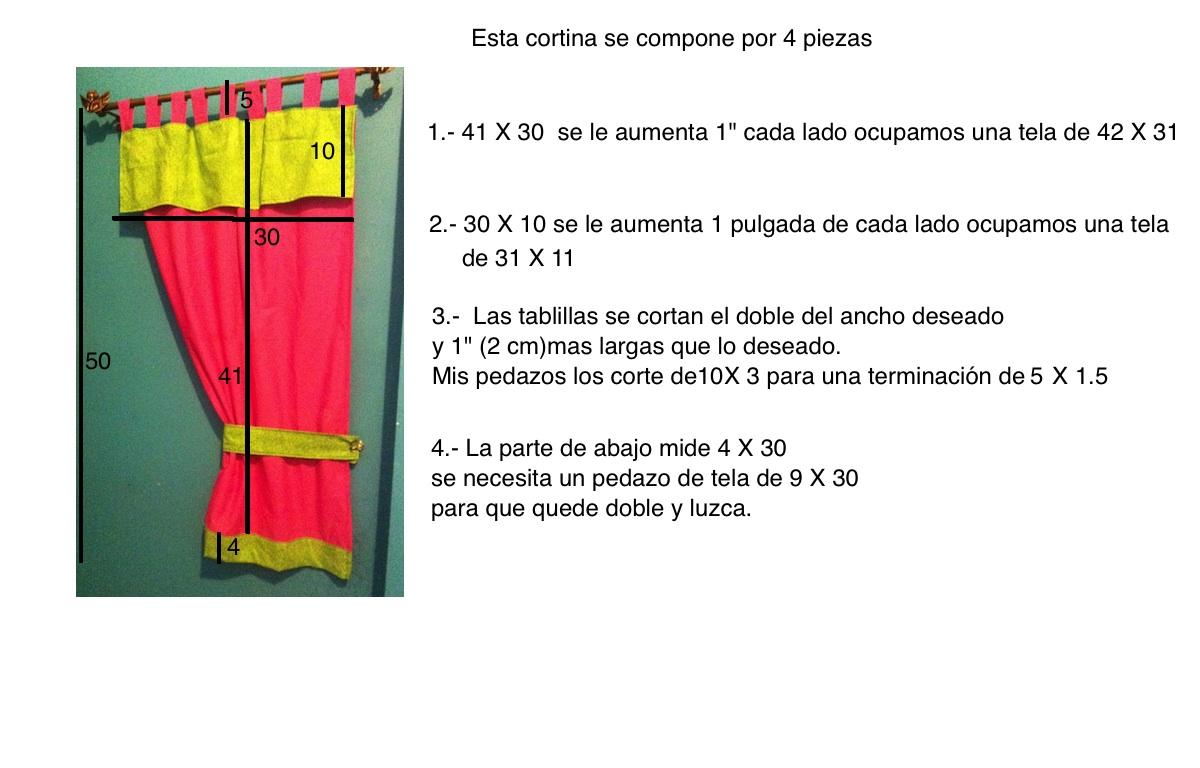 Recetas de comida mexicana y costura como coser una - Como coser unas cortinas ...