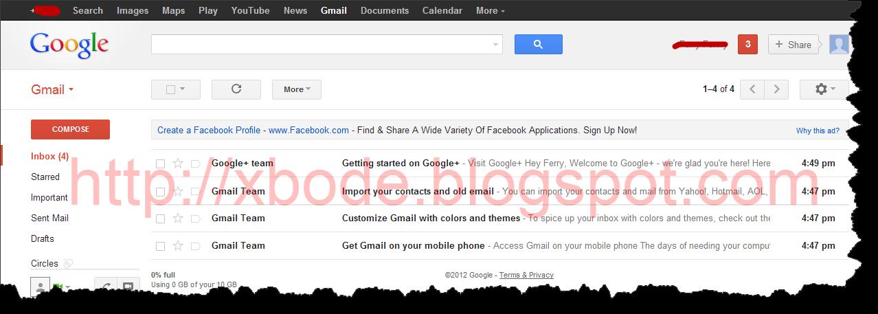 10. Pembuatan email selesai dan anda bisa mengirim email serta melihat ...