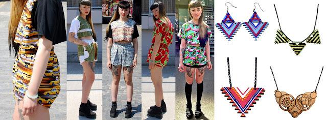 fruit print, watermelon, sushi, geometric necklace, statement necklace, flamingo, botanical trend, ss14, matching two piece