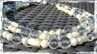 Crystal Pearl Wedding Necklace