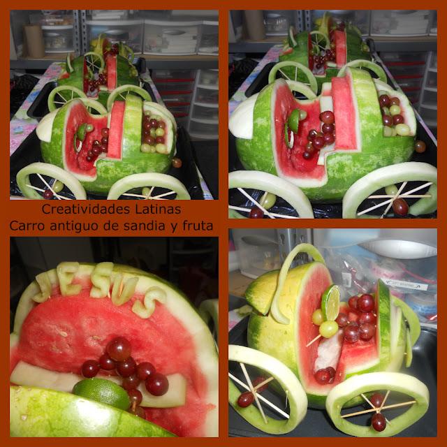 Arreglos con frutas y vegetales en creatividades latinas - Carro de frutas ...