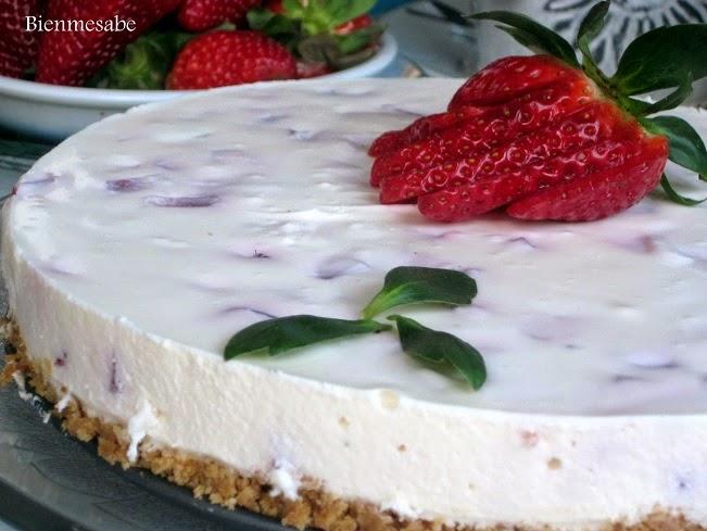 tarta de yogurt y mascarpone